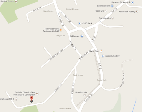 Map Narberth