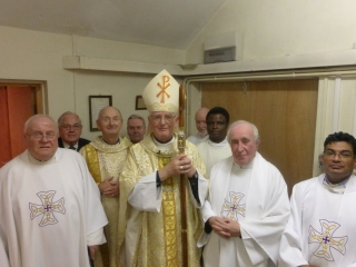 Bishop Tom with the local clergy