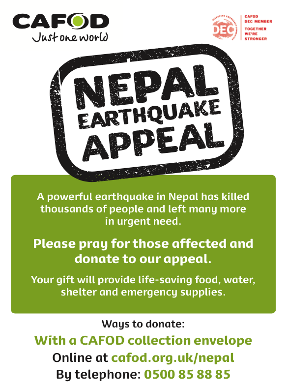 CAFOD Nepal Poster