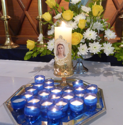 Marian candles after 1st Holy Communion