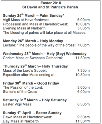 Easter Mass Times 2
